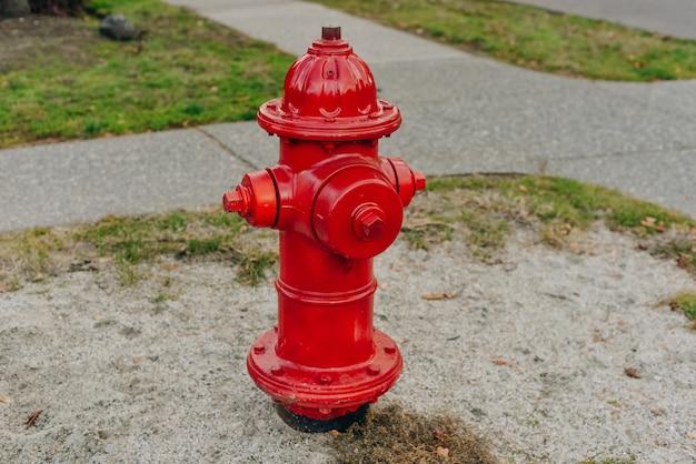 Sistema de prevenção de detalhe de incêndio de hidrante vermelho