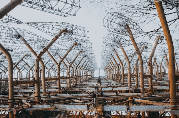 Sistema de radar oth no horizonte soviético de chernobyl - defesa antimísseis. chernobyl, pripyat