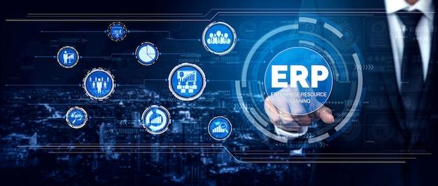 Sistema de software erp enterprise management management para plano de recursos de negócios
