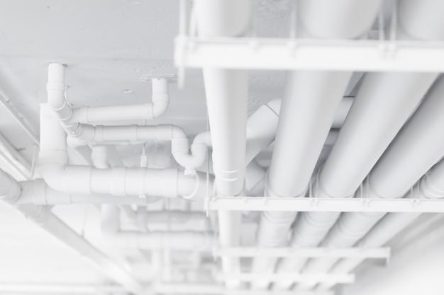 Sistema de tubulação de água clean pipe sob a construção de cor branca gerenciada