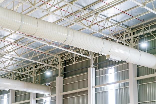 Sistema de tubulação de ventilação de ar condicionado de duto hvac em material de isolamento branco