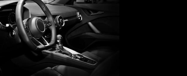 Sistema de ventilação do carro e detalhes de ar condicionado e controles do espaço de cópia de carro moderno