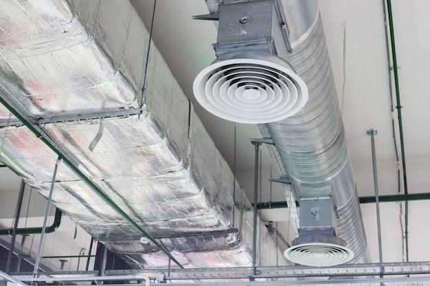 Sistema de ventilação e ventilação no teto