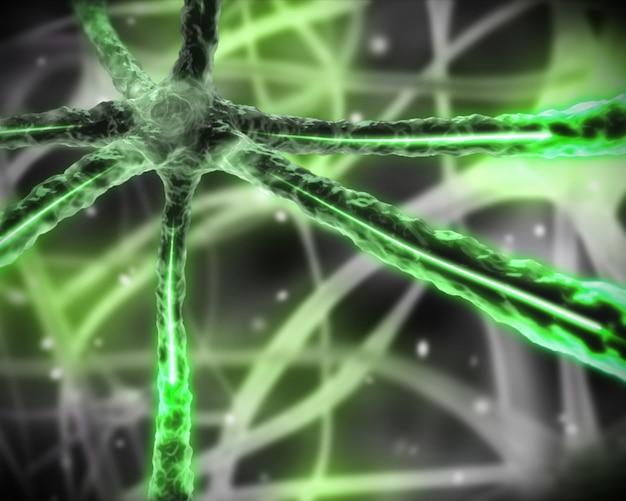 Sistema nervoso microscópico verde