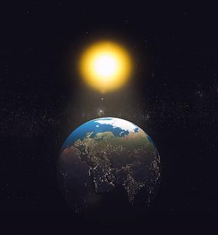 Sistema solar. fundo de ciência