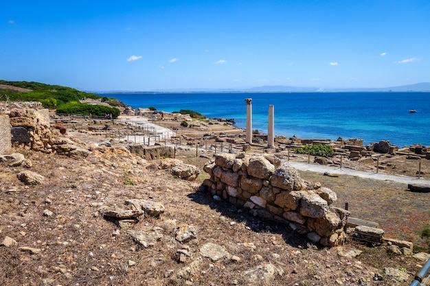 Sítio arqueológico de tharros na sardenha