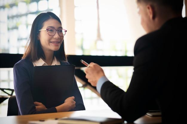 Situação da empresa, conceito de entrevista de emprego.