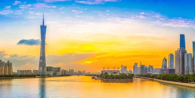 Skyline, composição, chinês, tv, vista