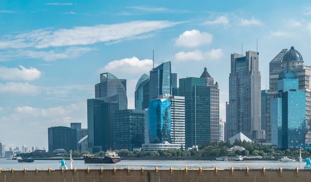 Skyline da arquitetura urbana moderna