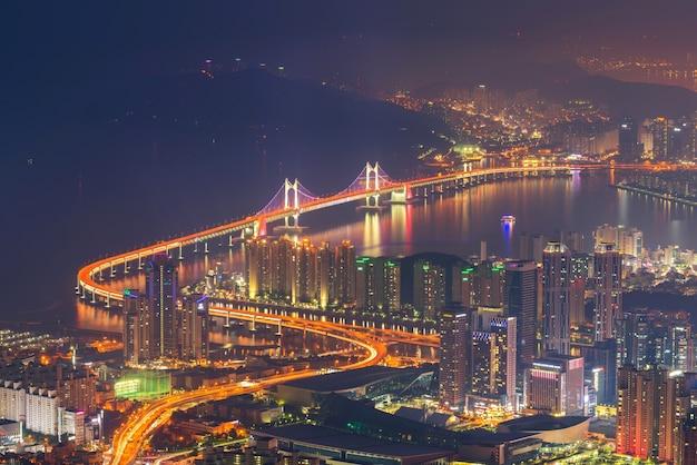 Skyline da cidade de busan, a melhor vista de busan, coreia do sul.