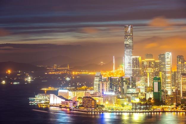 Skyline da cidade de hong kong
