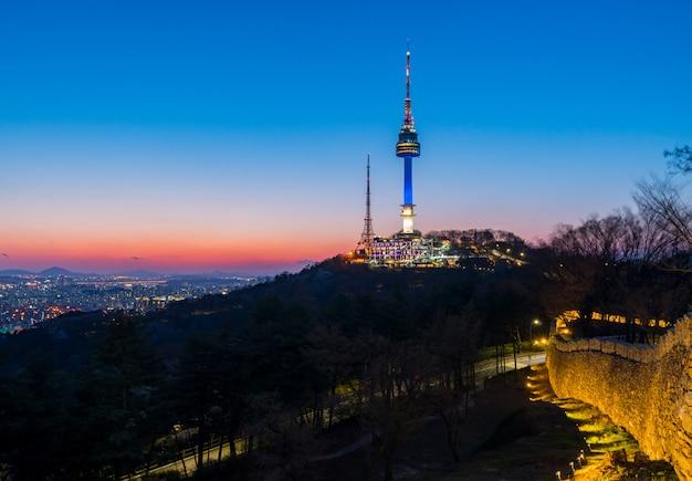Skyline da cidade de seul, coreia do sul