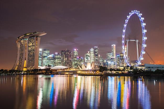 Skyline da cidade de singapura