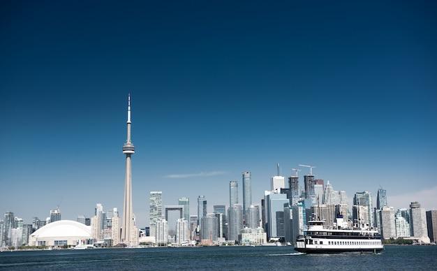 Skyline da cidade de toronto no canadá