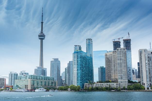 Skyline da cidade de toronto, ontário, canadá