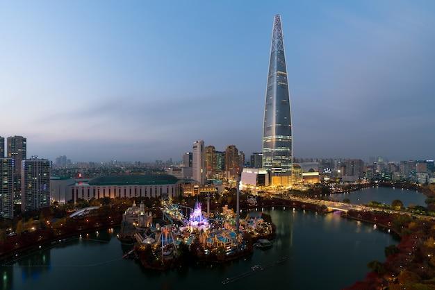 Skyline da coreia do sul de seul