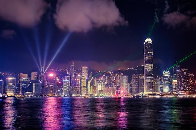 Skyline de hong kong. hong kong, china