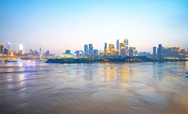 Skyline de metrópole moderna, chongqing, china