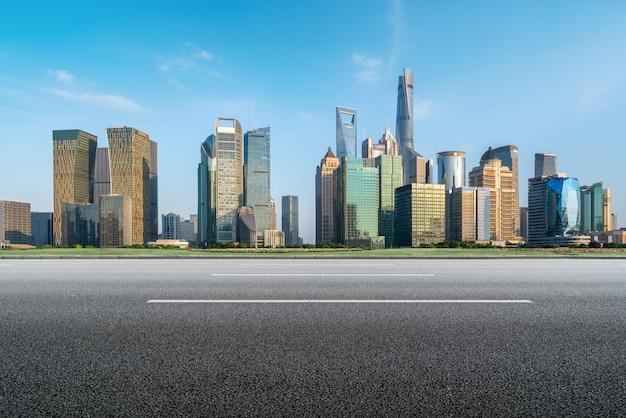 Skyline de paisagem arquitetônica de shanghai lujiazui