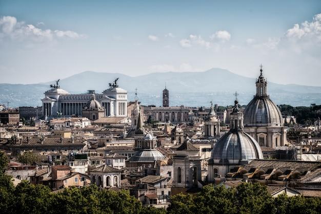 Skyline de roma, itália em vista panorâmica