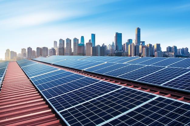Skyline fotovoltaica e moderna da cidade, china chongqing.