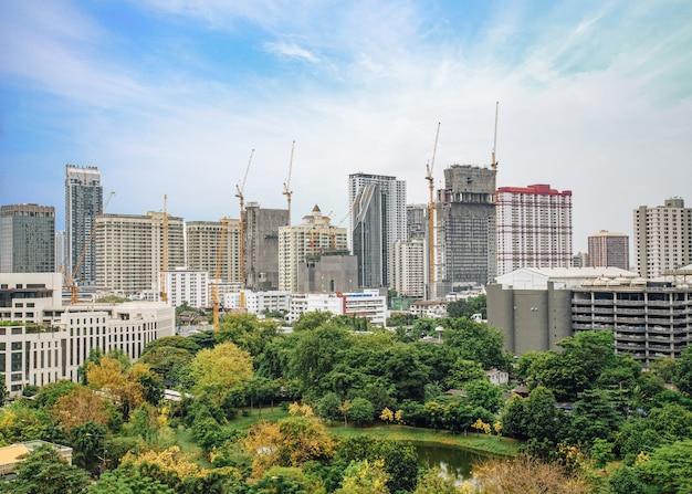 Skyline no centro da cidade de banguecoque da tailândia