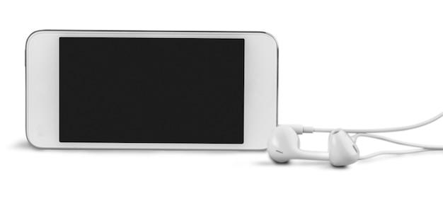 Smartphone com fones de ouvido