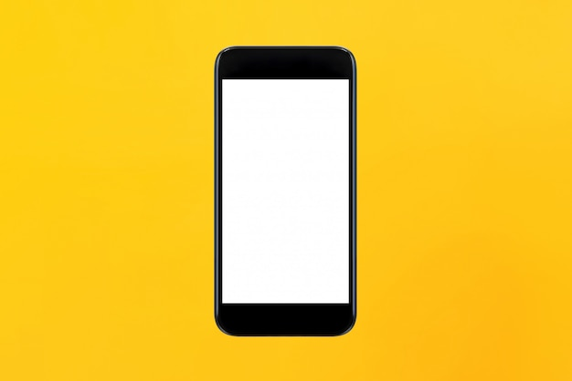 Smartphone de tela vazia isolado