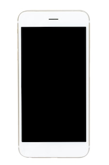 Smartphone isolado sobre sobre fundo preto.