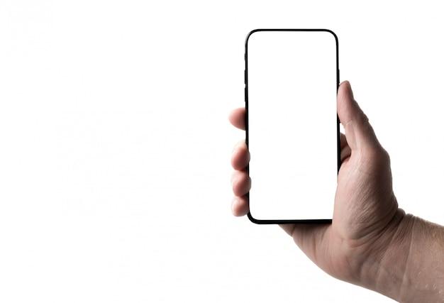 Smartphone na mão em um isolado