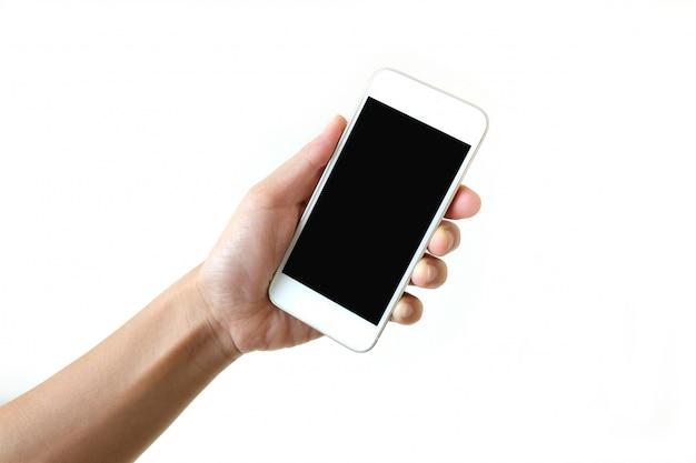 Smartphone na mão esquerda