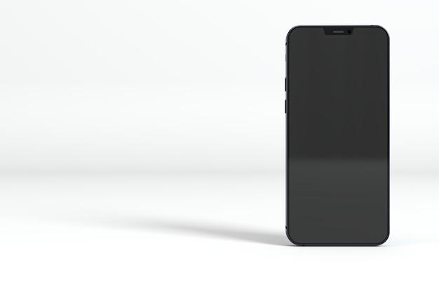 Smartphone preto em fundo branco