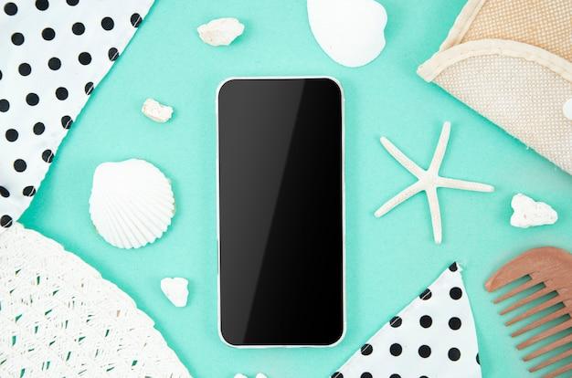 Smartphone quadro de verão