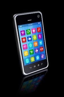 Smartphone touchscreen hd - interface de ícones de aplicativos
