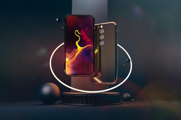 Smartphones ouro. novas tecnologias