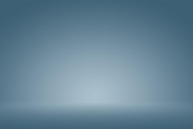 Smooth dark blue with black vignette studio, bem, use como plano de fundo, relatório de negócios, digital, modelo de site.