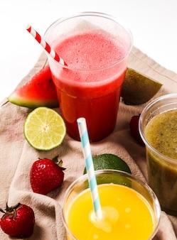 Smoothie de frutas saudáveis