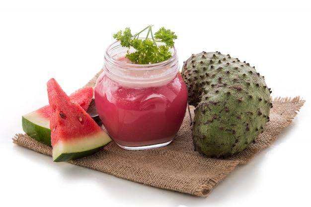 Smoothie de melancia e graviola