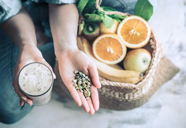 Smoothies de alimentação saudável