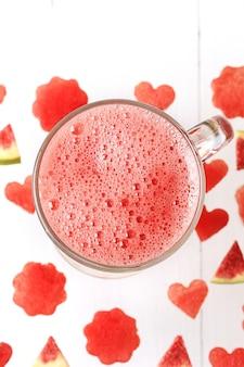 Smoothies de melancia e figo bebida refrescante de verão