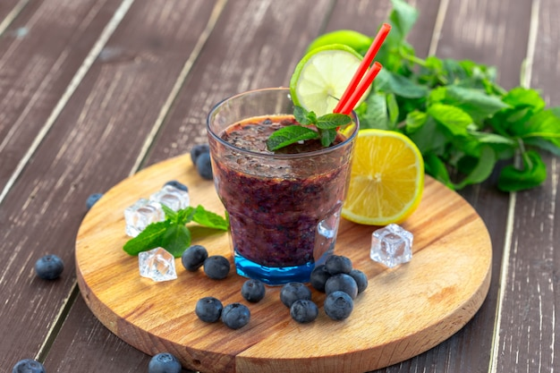 Smoothies de mirtilo