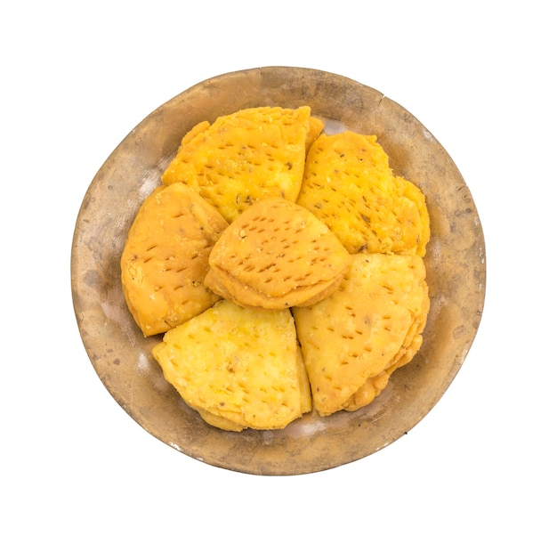 Snack indiano de khari do alimento da padaria