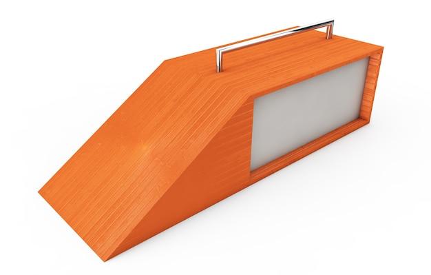 Snowboard pulando perto de uma renderização 3d de fundo branco