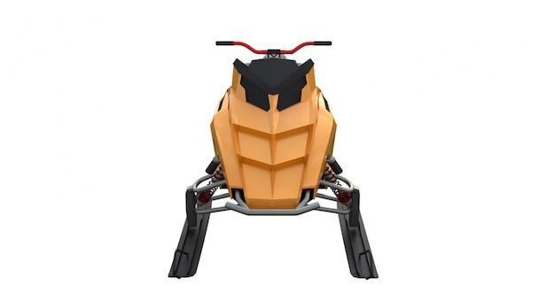 Snowmobile de renderização 3d