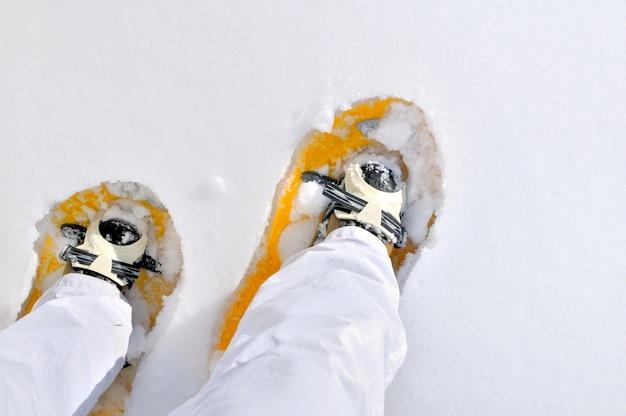 Snowshoeing no inverno