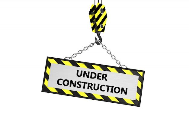 Sob o quadro de construção