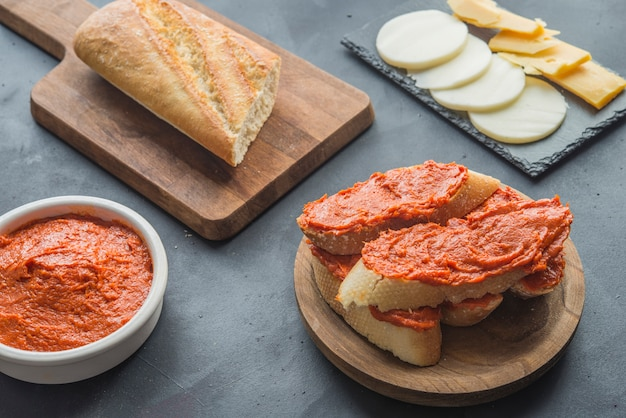 Sobrasada isolado comida típica em maiorca espanha