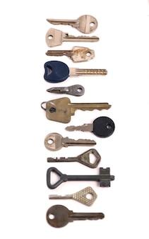 Sobrecarga de muitas chaves diferentes em um conceito de fundo branco