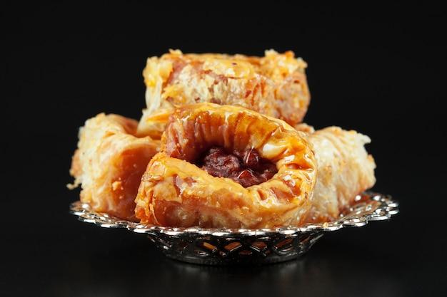 Sobremesa árabe tradicional baklava