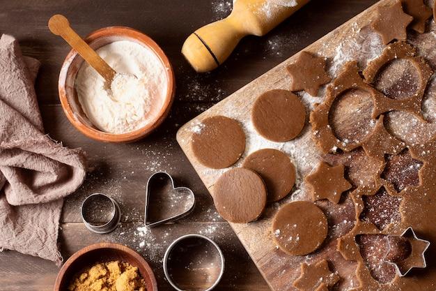 Sobremesa deliciosa de biscoitos de inverno